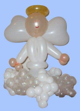Angel balloon sculpture