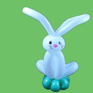 Bunny balloon sculpture
